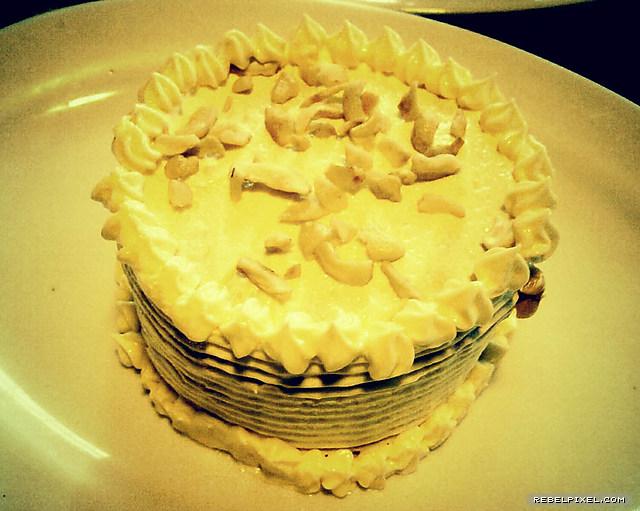 A Chocolate Kiss Sans Rival mini cake.