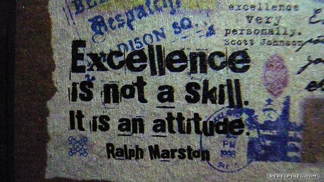 On excellence and other virtues…